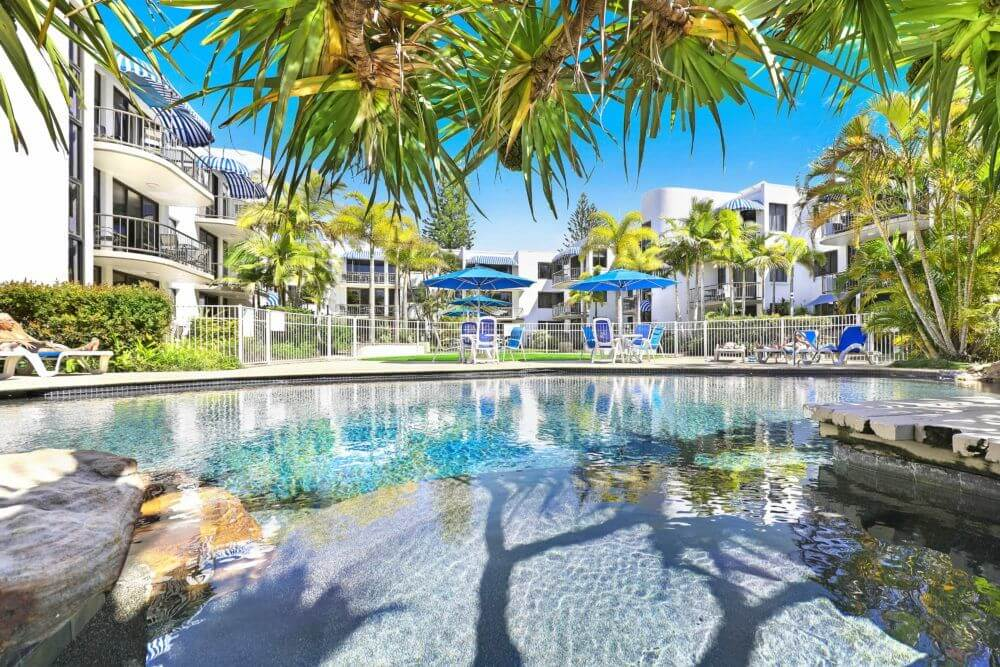 Mooloolaba Resort Commercial Heat Pump Pool Heating Installation
