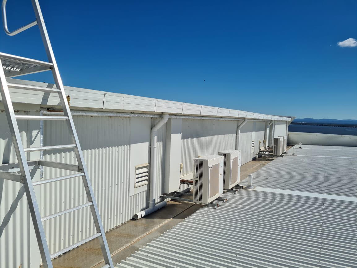 Rooftop of Infinity Apartment and their Commercial Hot Water Network